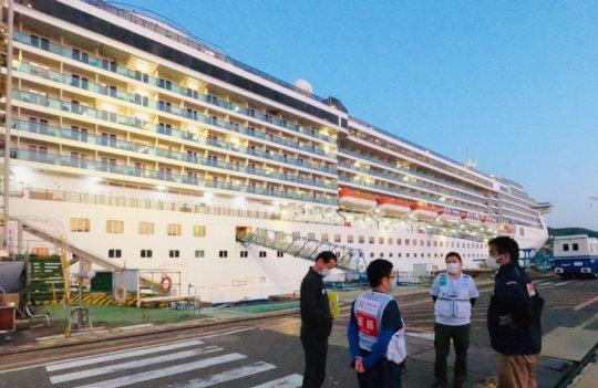 Cruise ship in Nagasaki