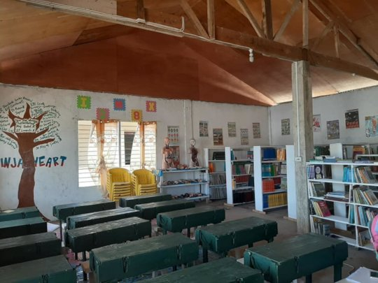 AAI sponsored school library waiting for students