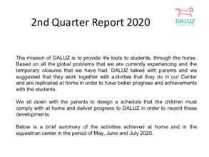 2nd Quarter Report - Fundacion DALUZ (PDF)