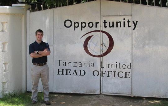 AJ Renold at the Opportunity Tanzania Headquarters