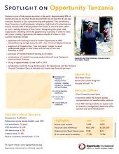 Tanzania Spring 2010 Update (PDF)