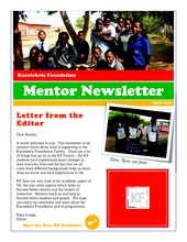 Kucetekela Foundation Mentor Newsletter (PDF)