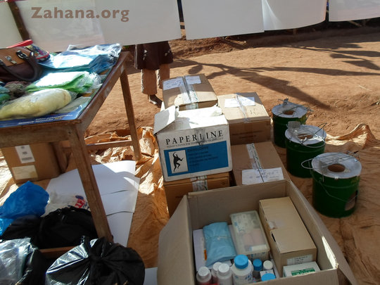 Medical supplies for the new health center