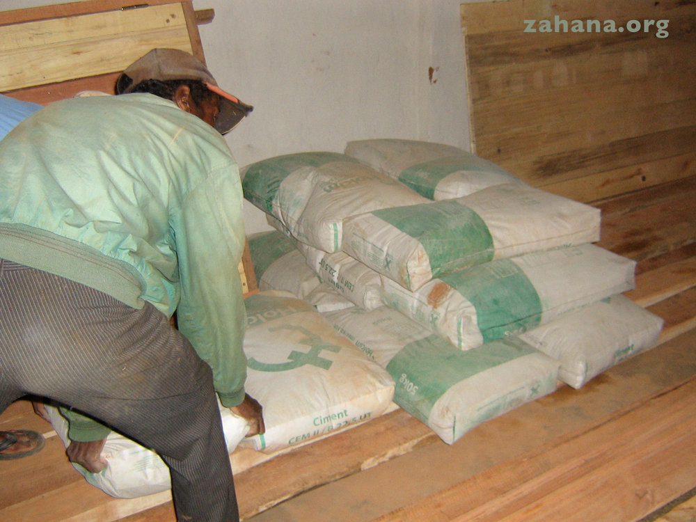 Rice stored in the communal grainary