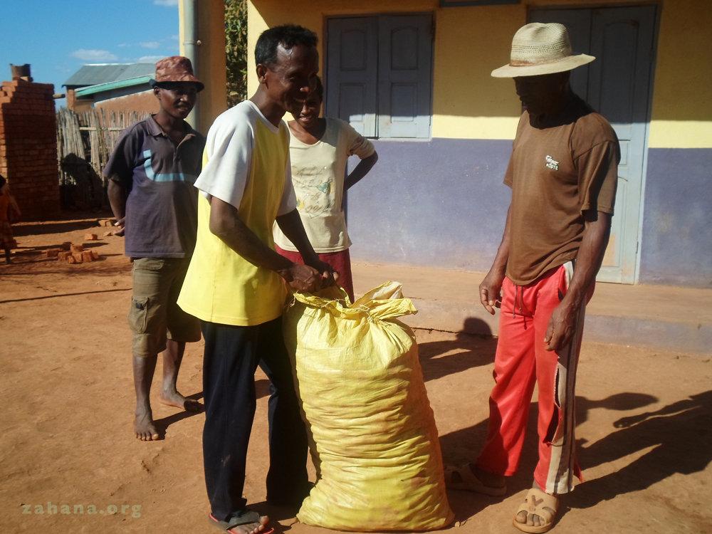 Potatoes and Mparany the head teacher