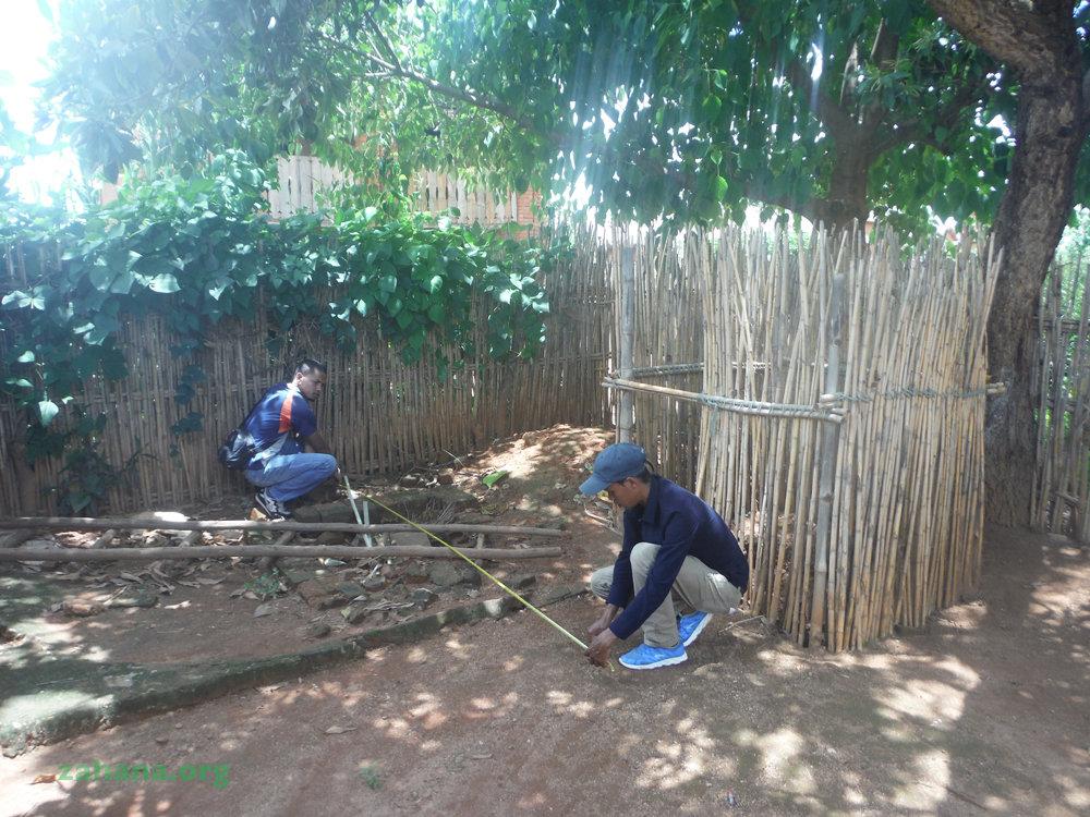 Engineering students taking measurements