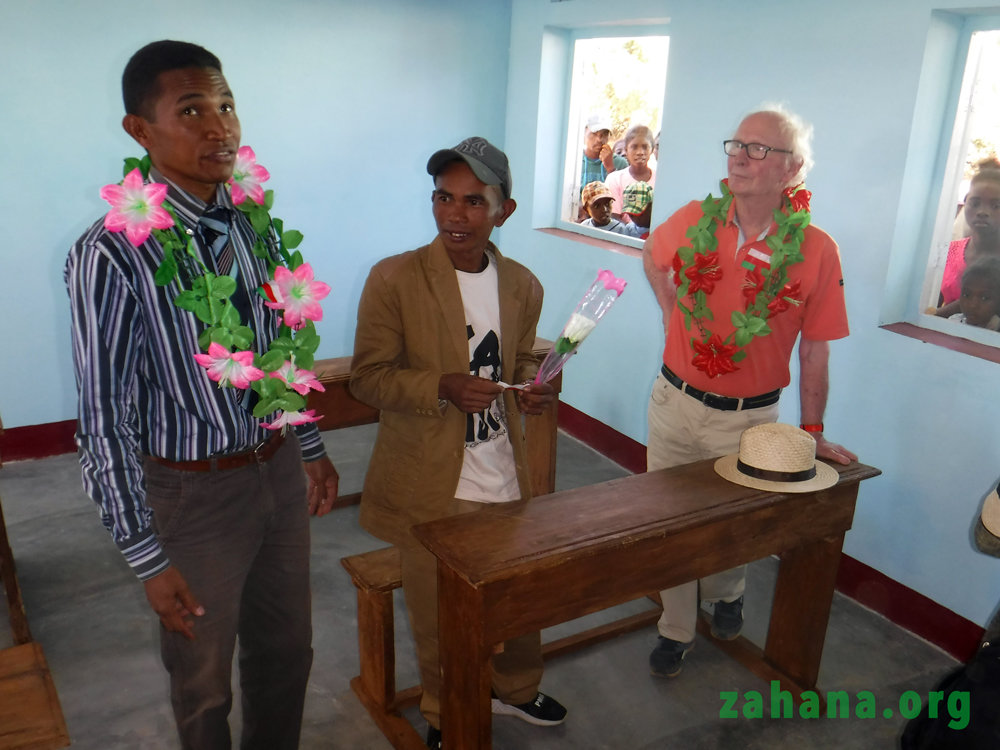 Education director, builder and funder of school