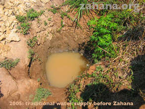 This was the only water source before Zahana.