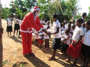 Santa at Zahana's school