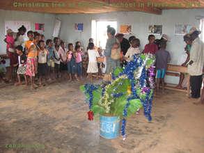Christmas tree in Zahana's Fiarenana school