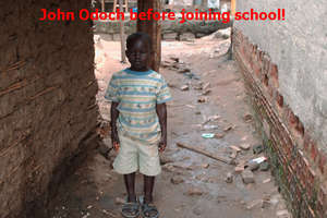John Odoch in School after two years waiting
