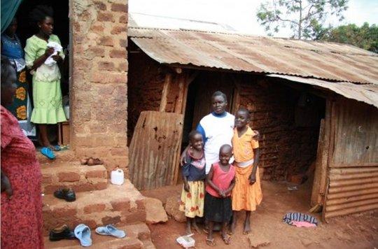 South Sudanese refugee family living in Uganda