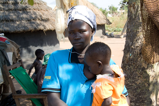 Omilling's young mother & baby malaria patients