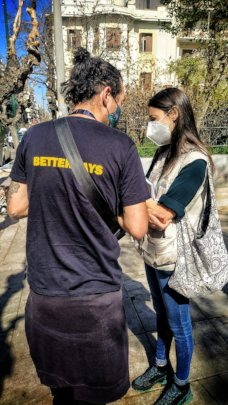 Better Days' team on the streets of Athens
