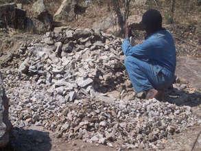 Quarry stones for building Mario Primary School
