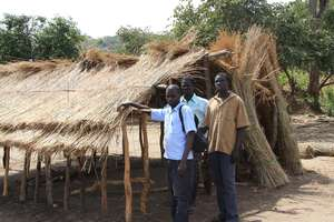 Francis, a soil block trainer visited Mairo school