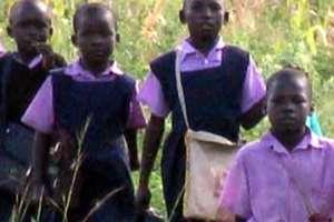 Children treking to school