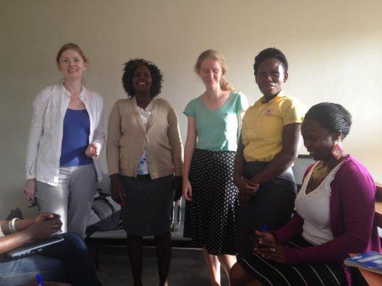 Two GlobalGiving Volunteers visited HO in Kampala.