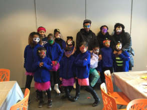 Mask-making in Prospect Park