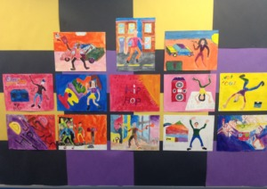 Art work from the Visual Arts Residency at PS163