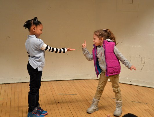 Students in an AFA drama workshop