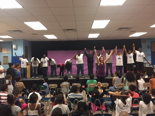 Final sharing of dance residency at PS163