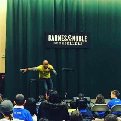 """Darian Dauchan performing """"Voice Power!"""""""