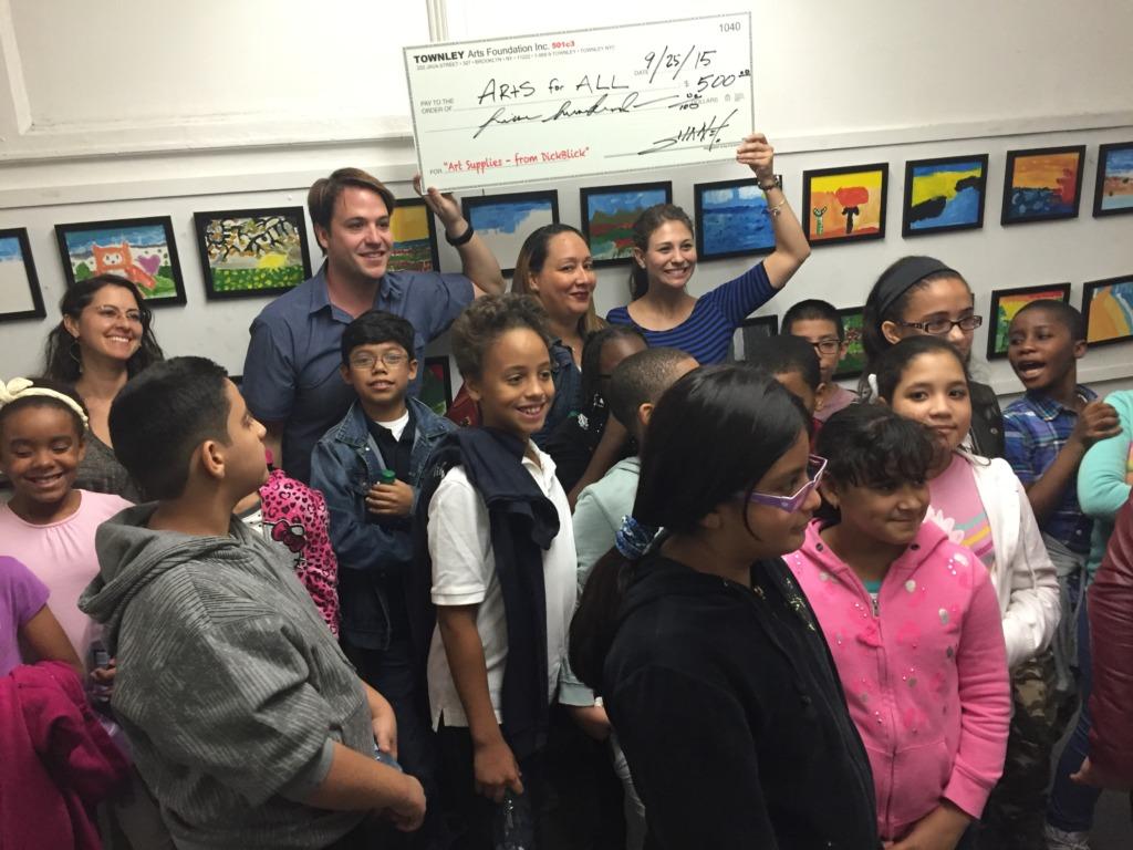 Children at Erick Sanchez studio visit.