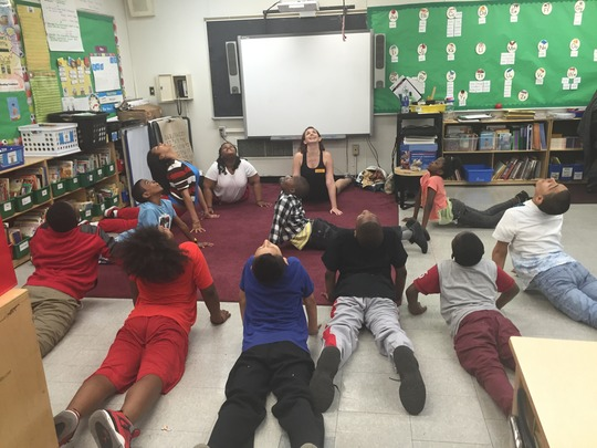 Dance Residency at PS163 with TA, Kim Schafer