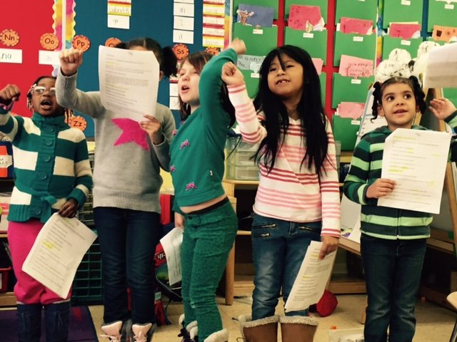 Students in the Literacy Through the Arts program
