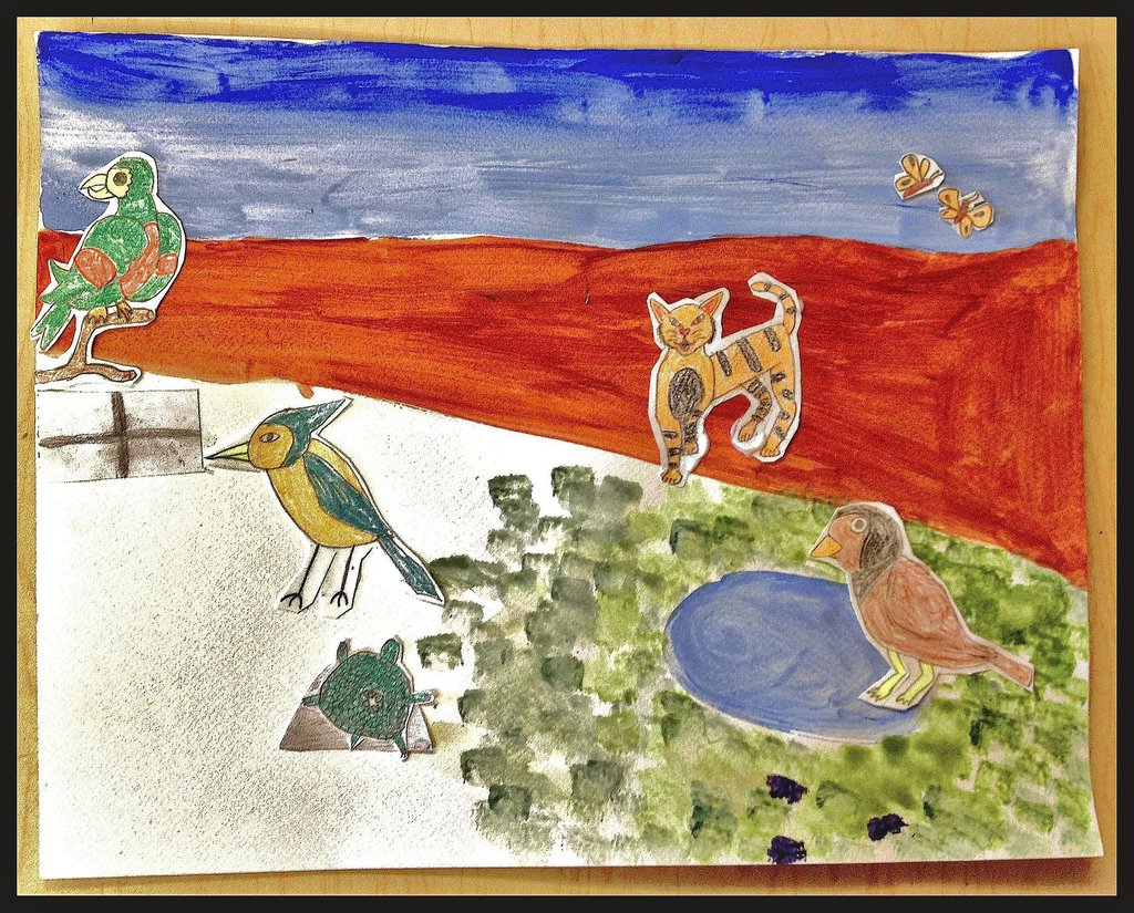 A piece of student artwork from our Haiku Program.
