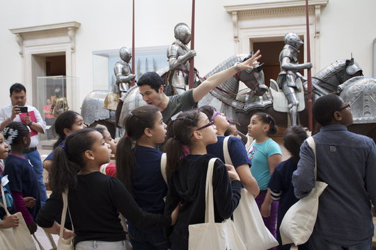 Students at A Day at the Met