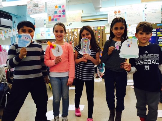 Students in Music & Movement Residency at PS69