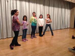Students in an after school drama workshop.