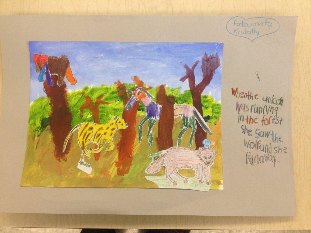 Student artwork from Artistic Residency Program