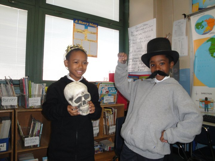 Elementary students in an AFA drama workshop.
