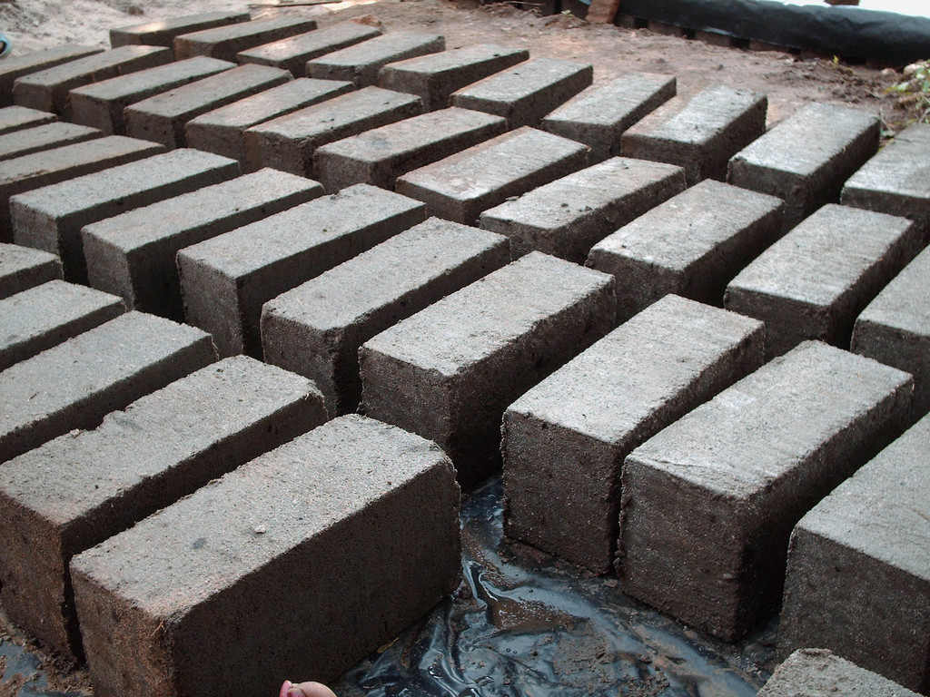 Soil block produced by team of 2 people