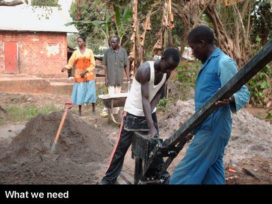 Hand-press interlocking soil block machine