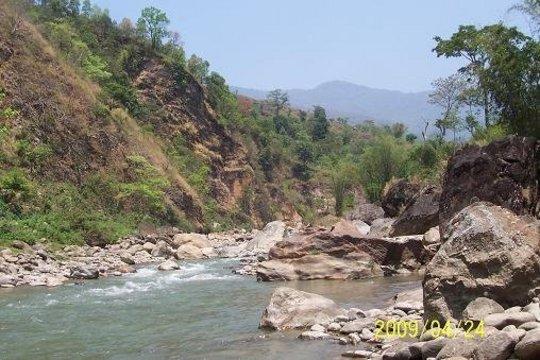 Site for bridge #36 on Dordi River
