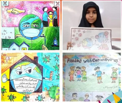 Students' submissions for an Art Competition