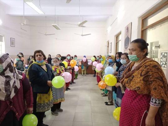 An interactive balloon activity to promote empathy
