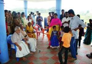 Children with volunteers/donors & senior citizens