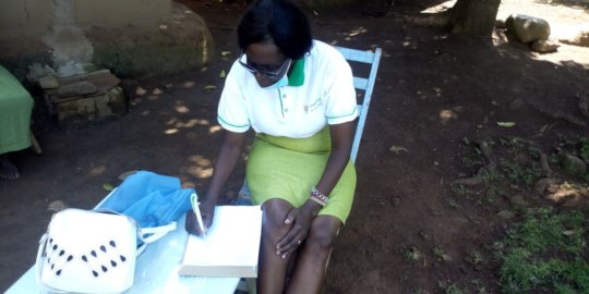 Our nurse taking a medical history of a new client