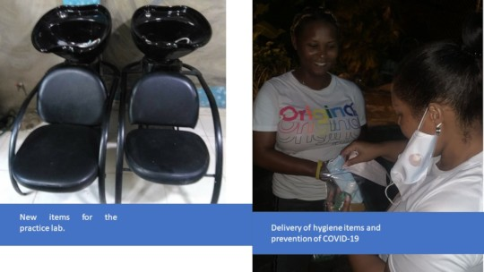 Delivery of hygiene items and prevention of COVID-