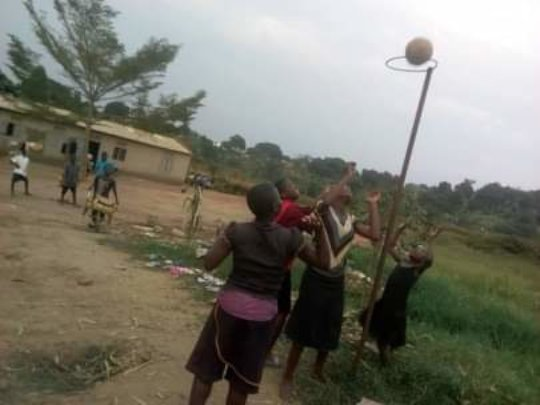 Children play netball to develop their talents