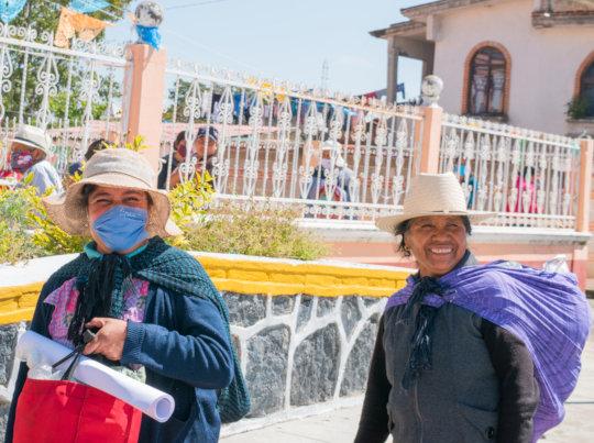 Mujeres de la comunidad de Huejotzingo