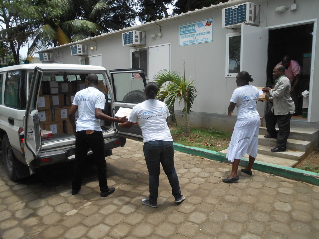 Delivering medical supplies to health centers