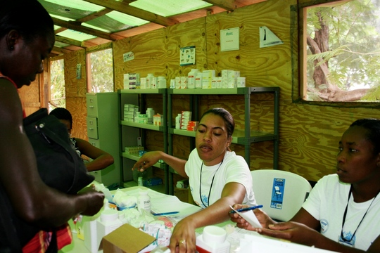 IMC staff see patients in Petionville Camp