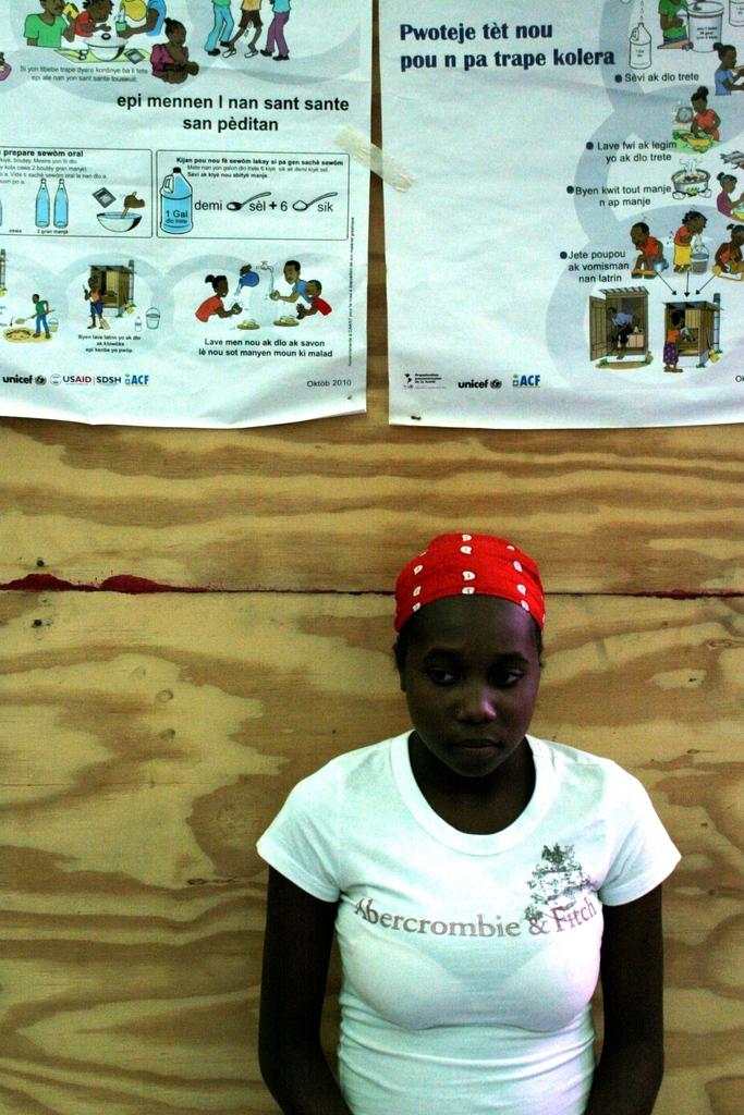 Manuchecka Dajeantal, 19, a patient at the clinic