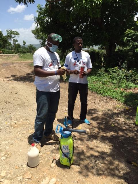 Preparing to disinfect home of a cholera patient